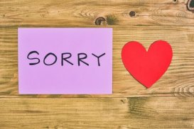 Sorry note and heart